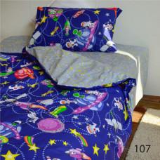 Комплект постельного белья Isleep подростковый ранфорс 107